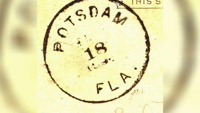 Postmark for Potsdam, later renamed Stuart.