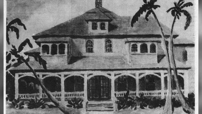 """The Palm Beach estate of Richard and Bula Croker, nicknamed """"the Wigwam,"""" is believed to have inspired the unofficial hangout called """"Croker Beach."""""""