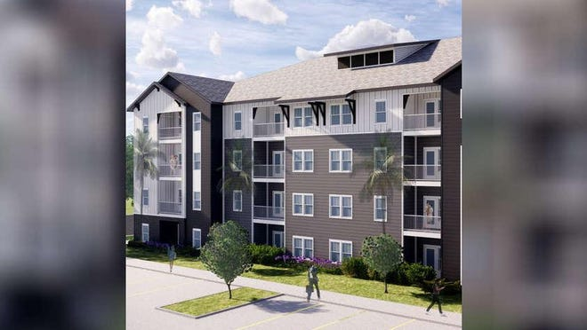 A rendering of an upcoming apartment complex that will be coming to the corner of Southwest 13th Street and Southwest 25th Place in Gainesville. The development is expected to be completed by July 2021.