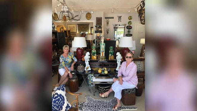 Patricia Pingree-Clouet of Patricia's Gallery and Faustina Pace of Faustina Pace Antiques are welcoming customers back to their shops on Antique Row.