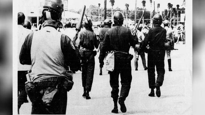 On April 6, 1970, union members assaulted Spreen Volkswagen in West Palm Beach, doing thousands of dollars in damage.