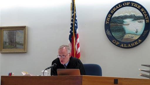 Alaska Superior Court Judge Philip Pallenberg speaks during a court hearing on Thursday, Nov. 19 , 2015, in Juneau, Alaska.