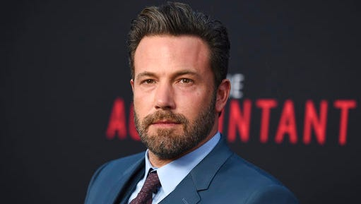 """FILE- In this Oct. 10, 2016, file photo, Ben Affleck arrives at the world premiere of """"The Accountant"""" at the TCL Chinese Theatre in Los Angeles. Affleck says he has recently completed treatment for alcohol addiction. The actor and director on Tuesday, March 14, 2017, posted on his personal Facebook page that this is the first of many steps being taken towards a positive recovery."""