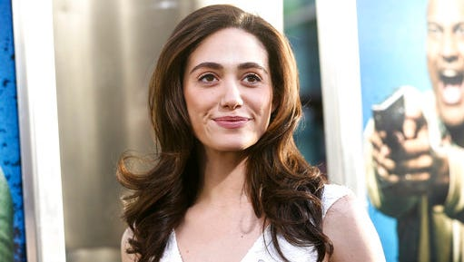 "FILE - In this April 27, 2016, file photo, Emmy Rossum attends the LA Premiere of ""Keanu"" held at ArcLight Cinerama Dome Theater in Los Angeles. The Los Angeles Times reported on March 28, 2017, that $150,000 in jewelry was taken from Rossum's home in a burglary."