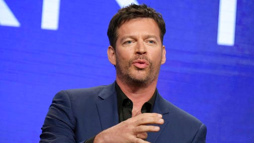 "FILE - In this Aug. 3, 2016, file photo, Harry Connick Jr. participates in the ""Harry"" panel during the NBC Television Critics Association summer press tour in Beverly Hills, Calif. Connick will sing the national anthem at the Kentucky Derby at Churchill Downs on May 6, 2017."