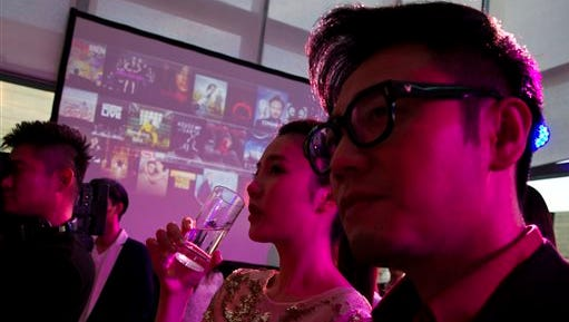 Chinese celebrities attend the party for Sohu's online streaming website to share their passion for U.S. TV shows in Beijing, 10 days before the country's broadcast regulator says every foreign TV show and movie shown on Chinese online streaming sites will have to be approved by authorities by April or else go offline, in a tightening of control over the online industry. Now on Thursday China's state media reported Chinese authorities have ordered television stations, cinemas, online entertainment sites and other outlets not to show works by entertainers found to have been involved in vice crimes such as using drugs or visiting prostitutes.