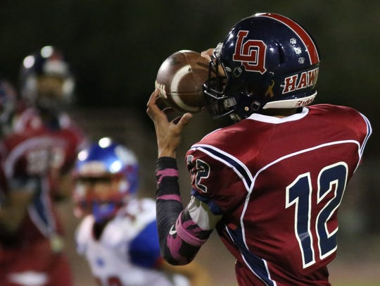 La Quinta and Indio football action on Friday, October