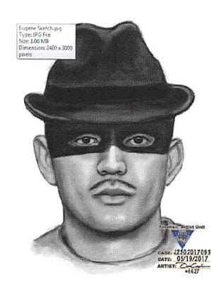 This police sketch is based on witness reports of a fedora-clad man, who broke into a home in Belleville on Friday, May 19, 2017.