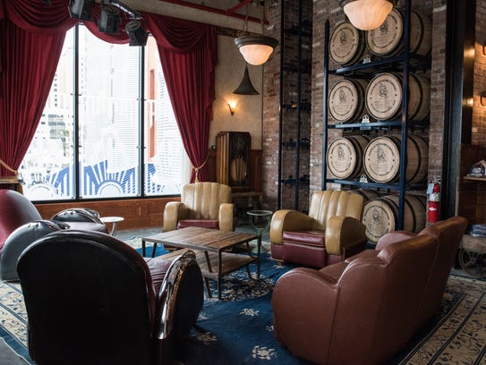 An interior view of the speakeasy lounge at Seacrets