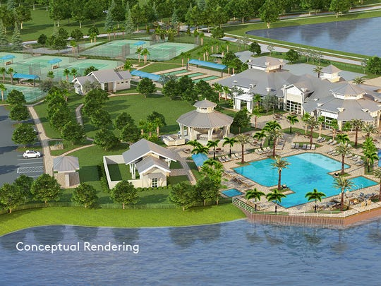 Construction has begun on the resort-style amenity center at Greyhawk at Golf Club of the Everglades.