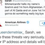 Girl tweets threat to American Airlines
