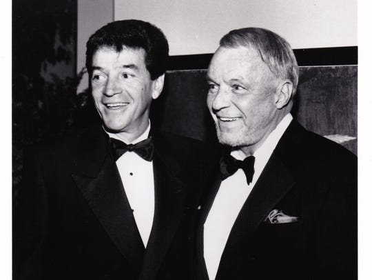 Tom Dreesen (left) was Frank Sinatra's opening comic for almost 14 years.