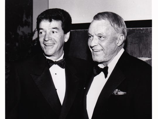 Tom Dreesen, left, opened for Frank Sinatra for the last 14 years of Sinatra's life.