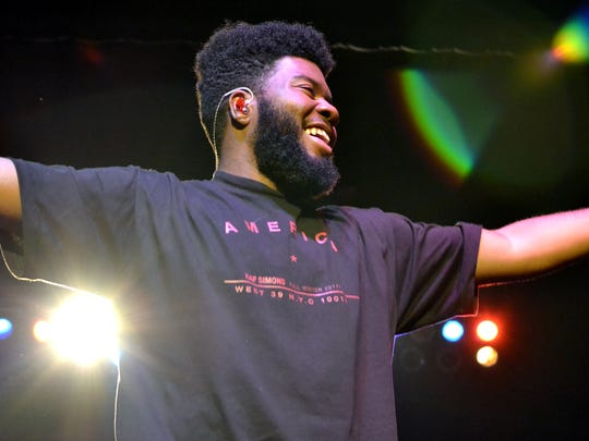 Khalid performs a sold-out show at the Rave's Eagles Ballroom Wednesday.