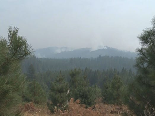 The King Fire, burning in El Dorado and Placer counties, grew to 81, 944 acres by the night of Saturday, Sept. 20, 2014.