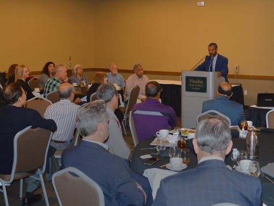 Dr. Abraha Betre speaks at the California Medical Association