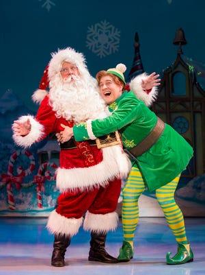 "Mark Fishback Santa Spenser Micetich Buddy in ""Elf the Musical."""