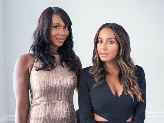 On Friday, Anika Jackson, left, and Birmingham's Kelli Coleman are opening the first modern nail bar in Detroit.