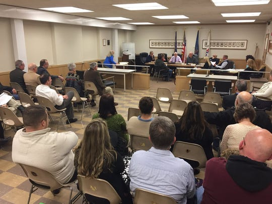 A big crowd gathers at Lebanon Zoning Board hearing on Pennsylvania Counseling Services' request to open a Day Reporting Center at 624 Cumberland St., Wednesday evening.