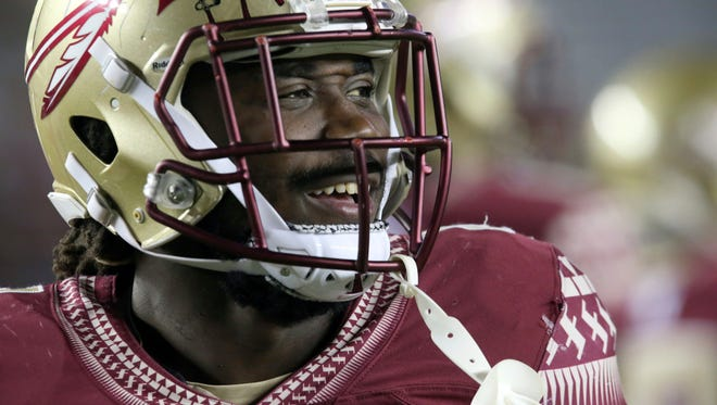 Florida State's Dalvin Cook smiles as he prepares to play Boston College in 2016.