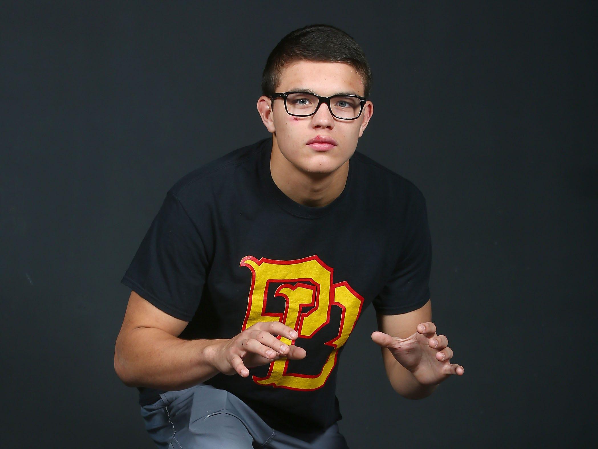 Palm Desert wrestler Anthony Mantanona.