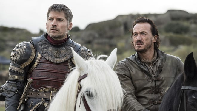 Will Jaime Lannister (Nikolaj Coster-Waldau), left, and Bronn (Jerome Flynn) survive until the end of 'Game of Thrones?'