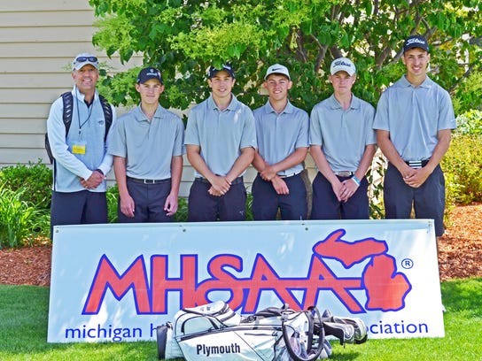 Plymouth's boys golf team finished in an 11th-place