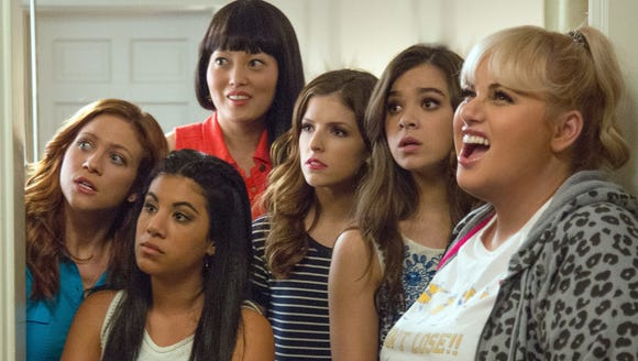 Brittany Snow (far left) loves being in 'Pitch Perfect'