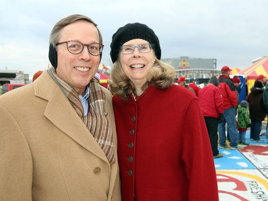 ISU President Wendy Wintersteen and Robert Waggoner