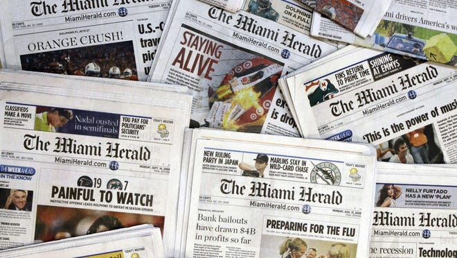 The Miami Herald is one of 30 newspapers owned by the McClatchy company. Hedge fund Chatham Asset Management plans to buy newspaper publisher McClatchy out of bankruptcy, ending 163 years of family control.
