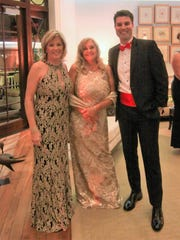 """""""Gala in Gold"""" co-chairs Petra King, left, and Rosemary"""