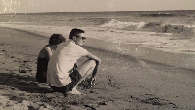 Steve and Barbara Cockerham are pictured hanging out at the beach in El Salvador while serving in the Peace Corps from 1962 to 1964.