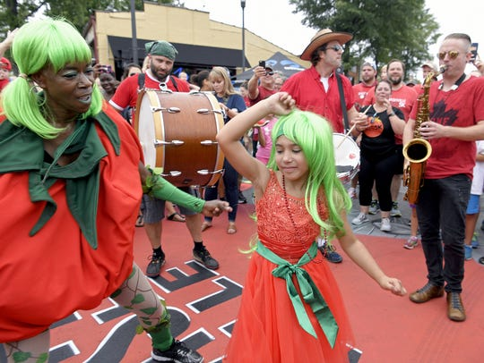The quirky Tomato Art Fest in East Nashville pays homage to the summer fruit.