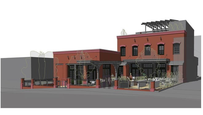 A rendering of a new South Slope bar and distillery.