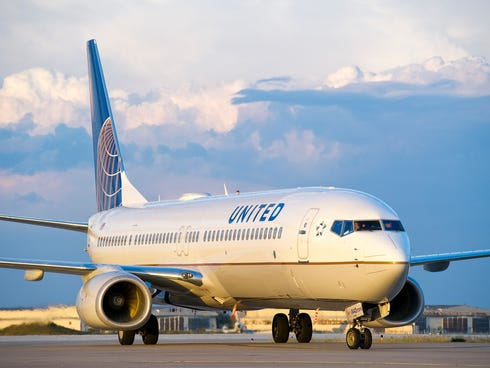 A United Airlines aircraft.