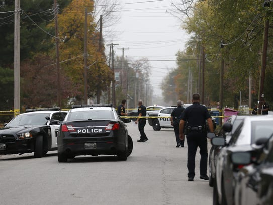 Springfield police on the scene of a fatal shooting