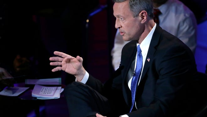 Democratic presidential candidate, former Maryland Gov. Martin O'Malley speaks during the Brown & Black Forum, Monday, Jan. 11, 2016, in Des Moines, Iowa.