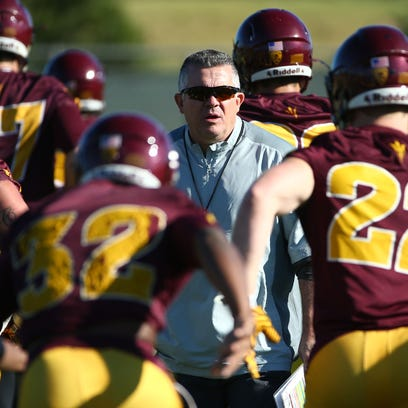 Arizona State head coach Todd Graham during the first