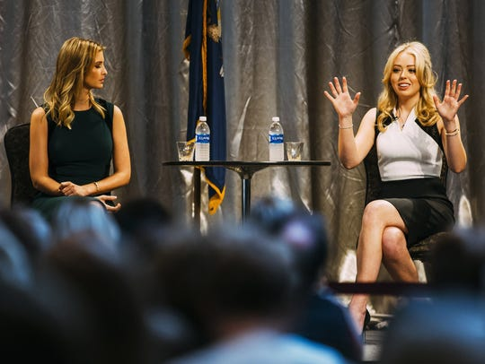 Tiffany Trump, right, daughter of Republican presidential