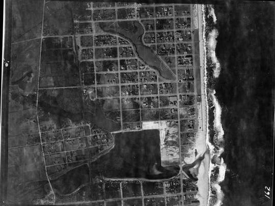 Historical map of Sea Girt Inlet from the Army Corps of Engineers in 1920.