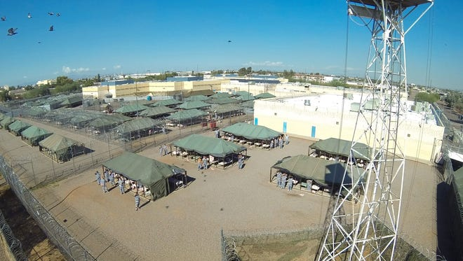 Tent City as seen on April 8, 2017. The Maricopa County outdoor jail has since been closed.