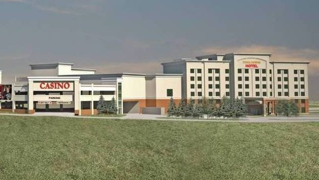 An artist's rendering of the planned expansion project at Tioga Downs in Nichols if it got the casino license.