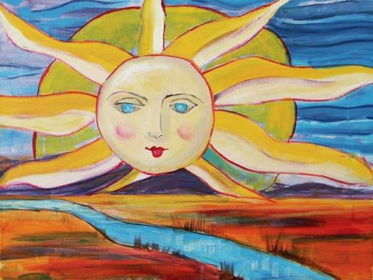 """Sun over the Rio Grande"" by Lisa Matta Brown."