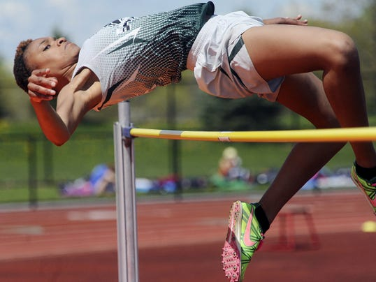 York County School of Technology junior Kirstyn Evans finished second in the girls' high jump at the White Rose Invitational Saturday at Central York High School.
