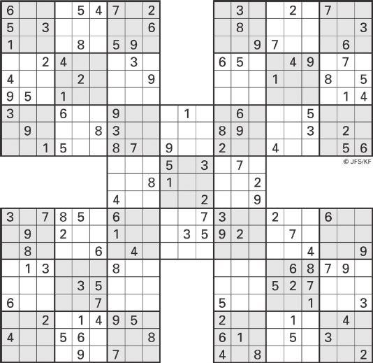 image relating to 16 Square Sudoku Printable titled Printable Sudoku Large-5