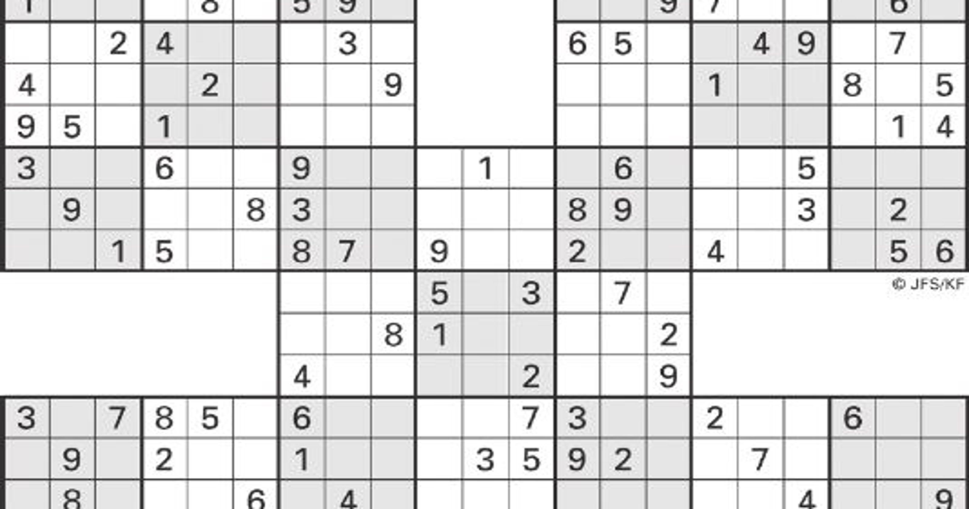 It is a photo of Insane Sudoku Printable Free
