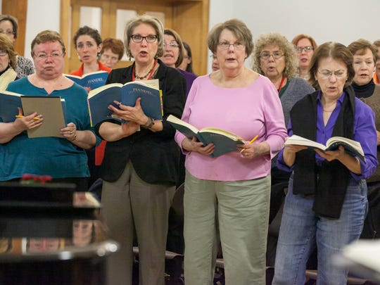 "Members of the Masterwork Chorus rehearse at the Chatham United Methodist Church, on Nov. 25, for their upcoming performances of Handel's ""Messiah"" on Dec. 18 and 20."