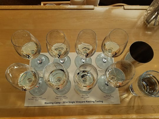 Single vineyard wines highlighted flavors specific to the Finger Lakes.