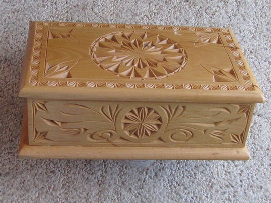 "Wood chip box by Don Brink, part of the ""Scandia Family"