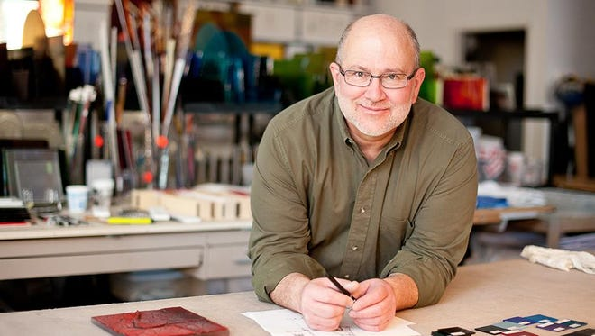 Artist Richard Parrish teaches classes in kiln-formed glass throughout the United States and internationally.
